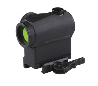 Picture of Aimpoint Micro T2 with QD mount with Titanium lever